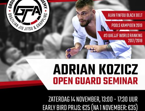 14 november: Open Guard Seminar met Adrian Kozicz